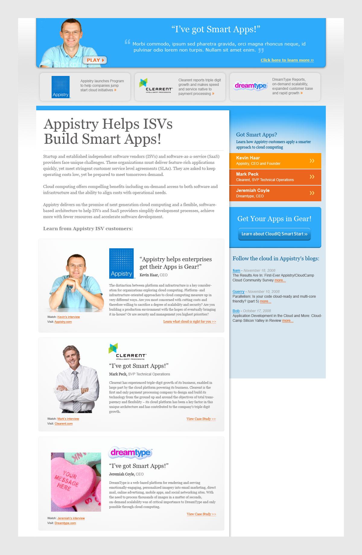 Appistry: App Kicker Microsite